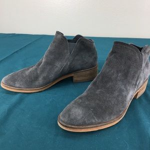 Dolce Vita Gray Suede Slip On Ankle Booties sz 7.5